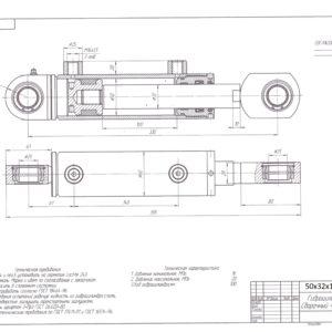 50х32х100х335 Гидроцилиндр МКМ прижима контейнера стандартный, МСКСприжима контейнераЩО-4, ОНМ подъема/опускания
